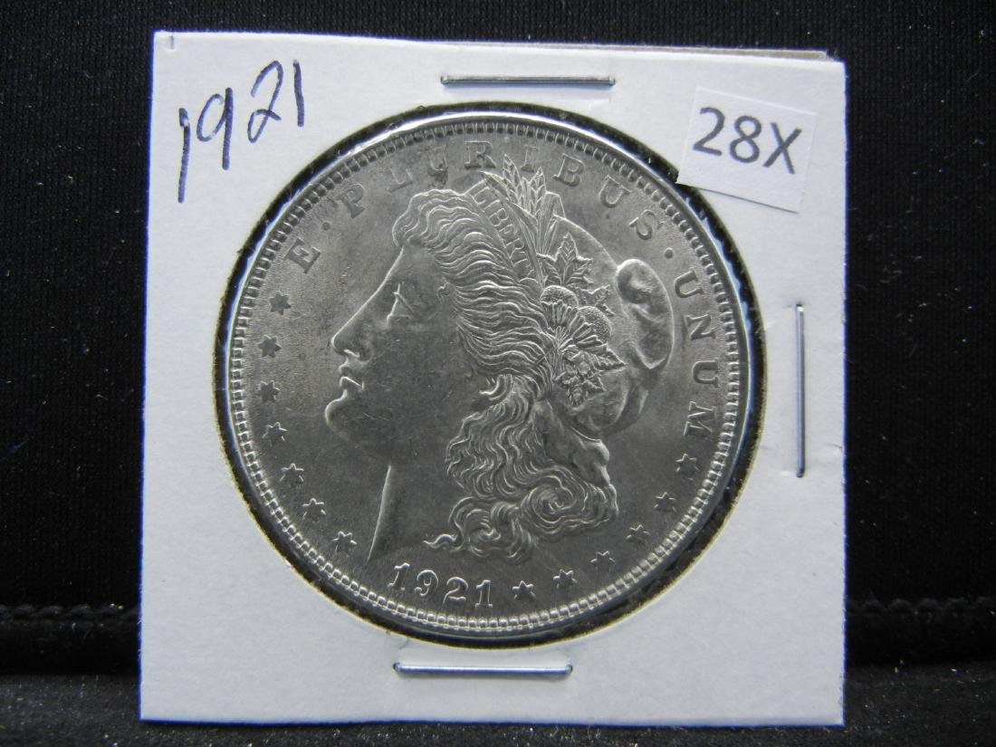 1921 Morgan Silver Dollar - 3