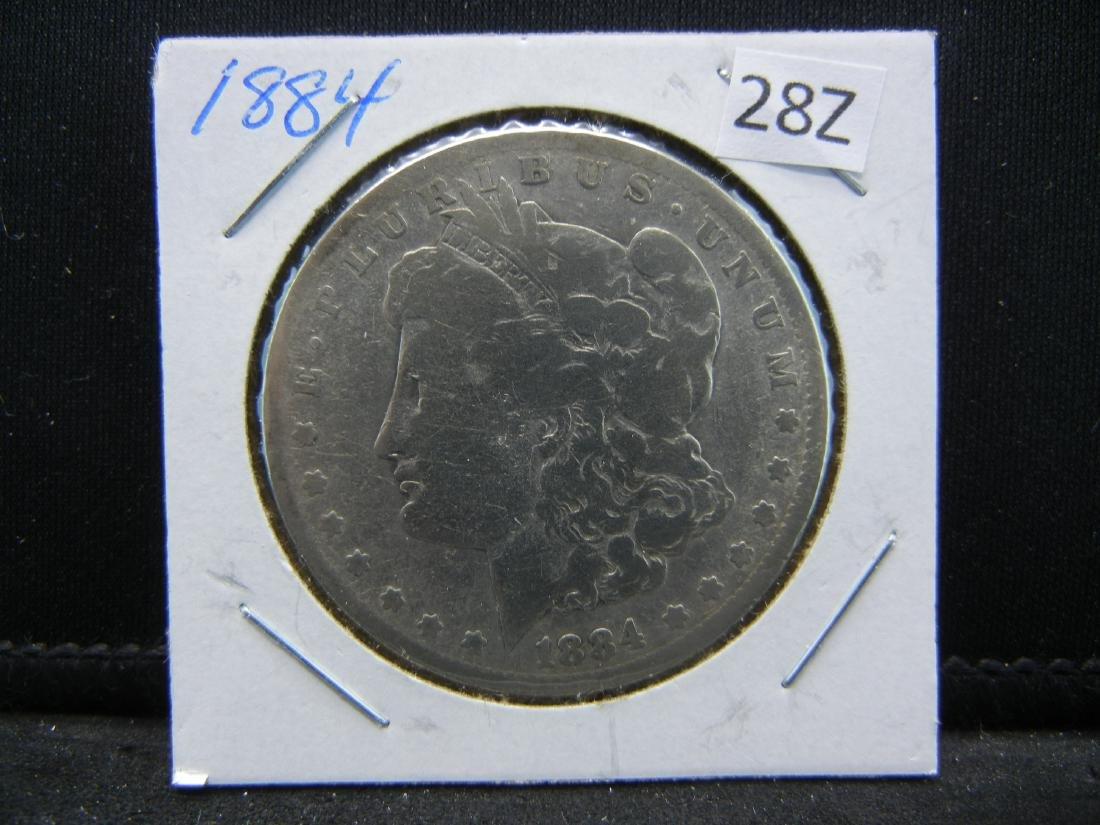 1884 Morgan Silver Dollar - 3
