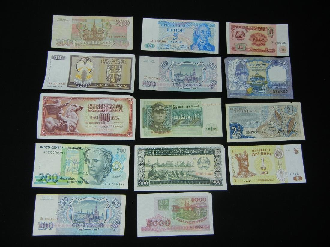 14 Foreign Bank Notes