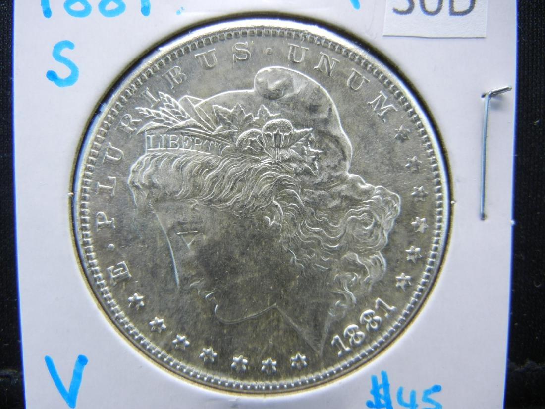 1881-S MS Morgan Silver Dollar
