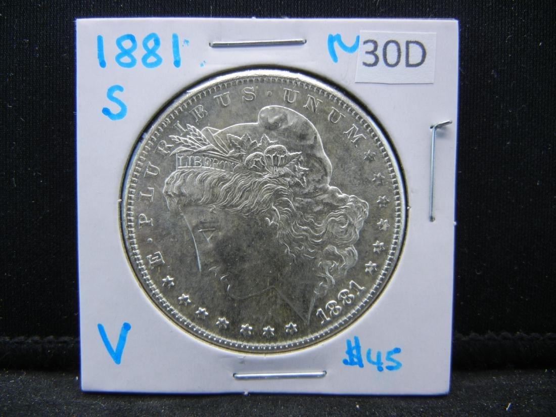 1881-S MS Morgan Silver Dollar - 3