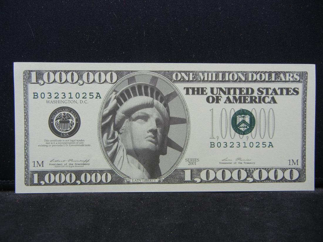 One Million Dollars Patriotic Novelty Note.