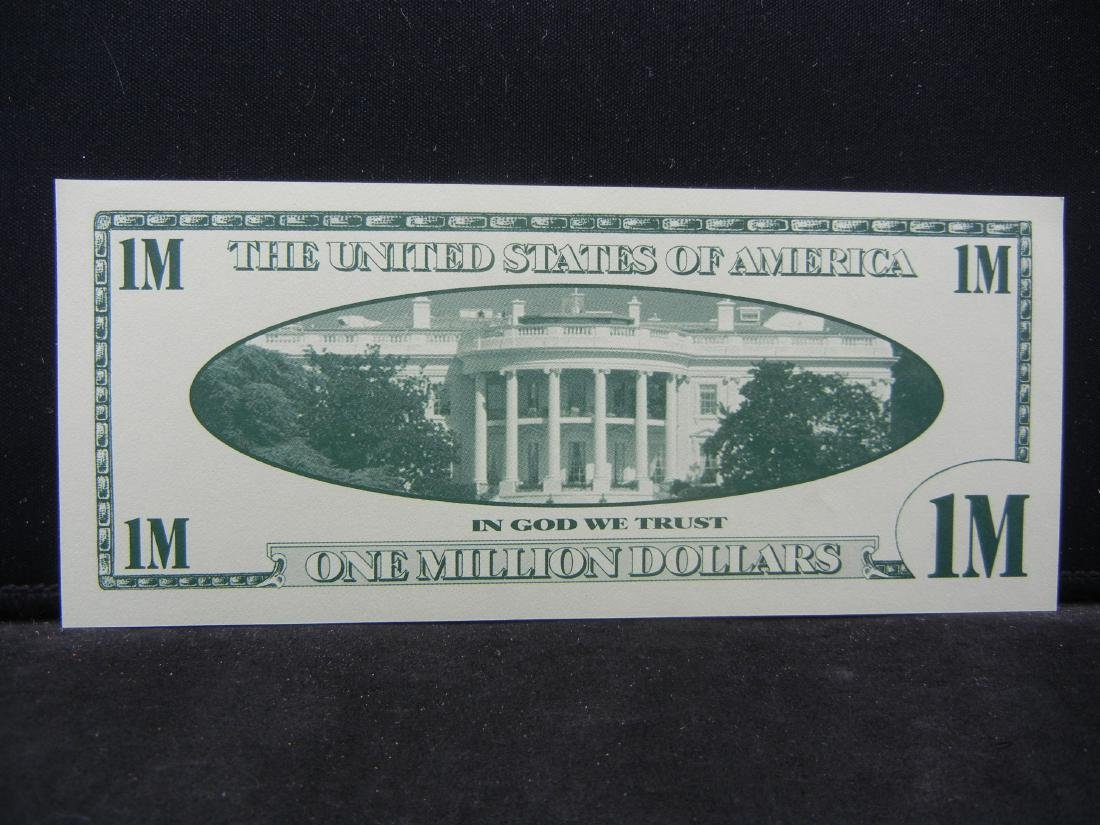 One Million Dollars Patriotic Novelty Note. - 3