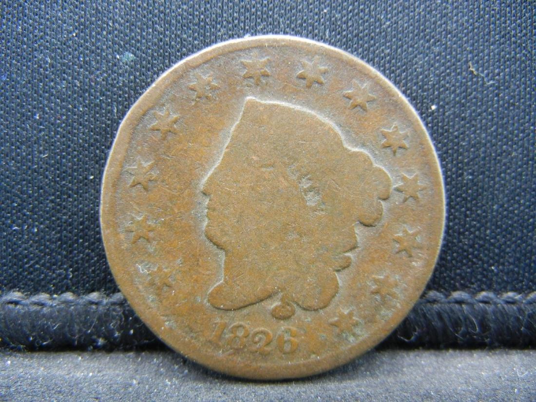 1826 Coronet Head Large Cent.