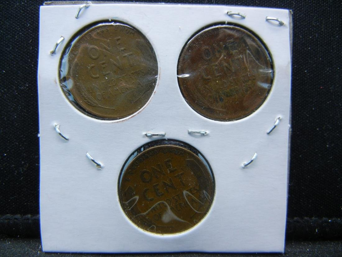 1934, 36, 37 Lincoln Wheat Cents - 2
