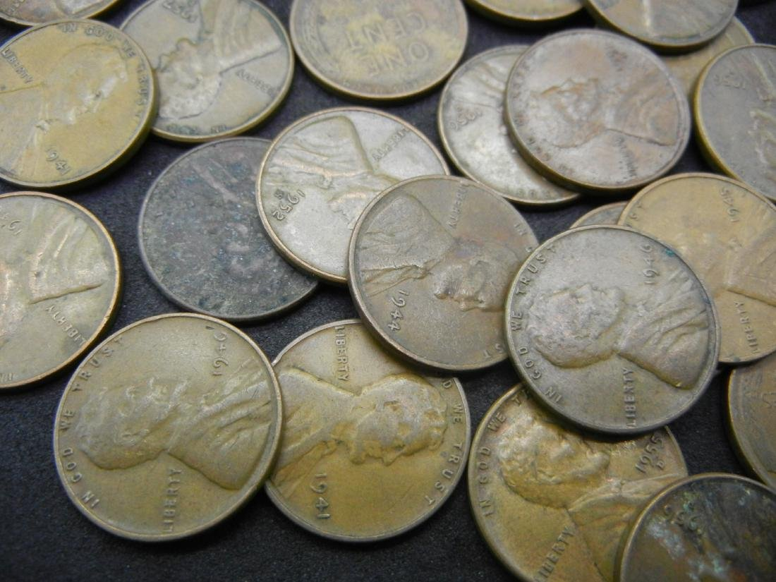 100 Lincoln Wheat Cents. - 2