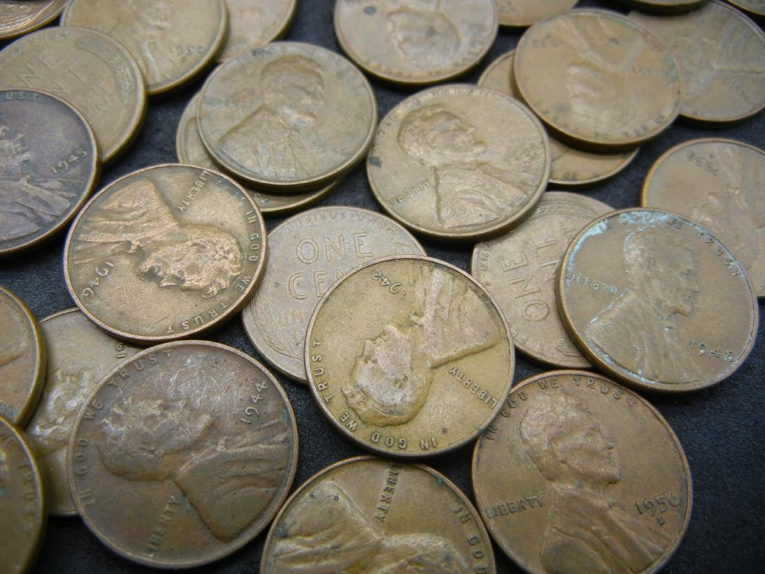 100 Lincoln Wheat Cents. - 5