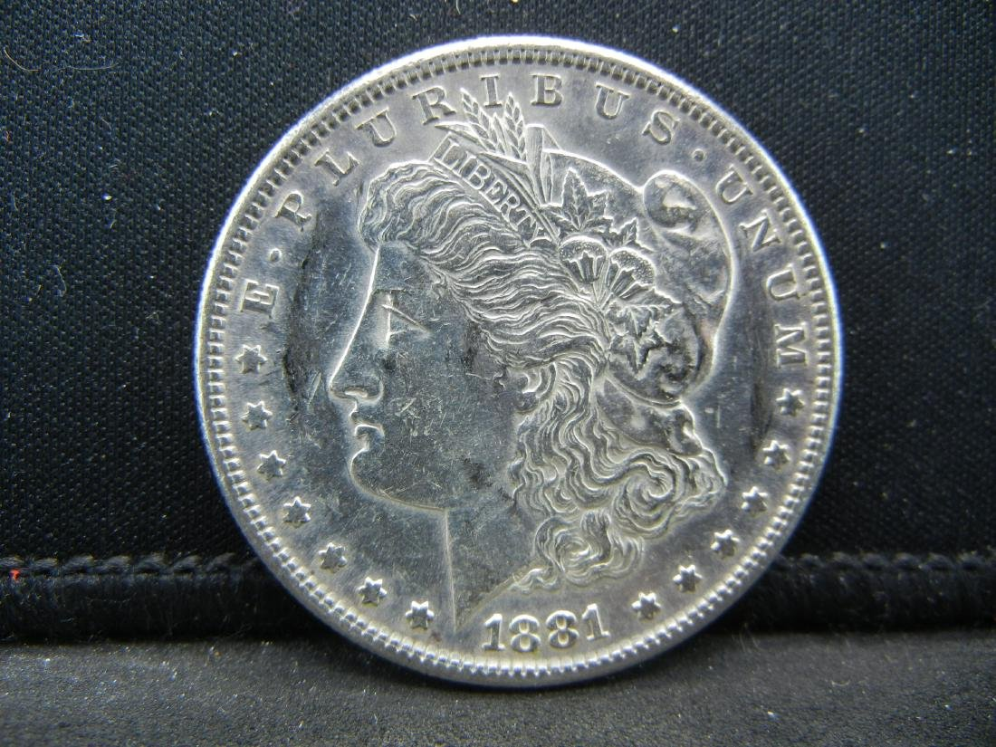 1881-S United States Silver Dollar.