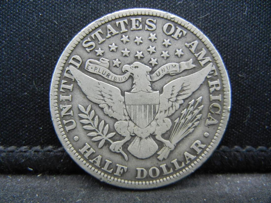 1906 Barber Half Dollar, Readible Liberty, Fine or - 2