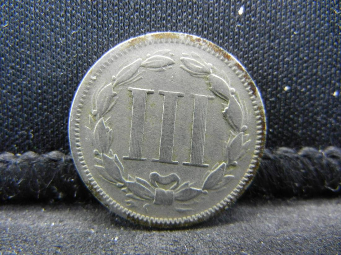 1871 Three Cent Nickel, Fine+ Condition. - 2