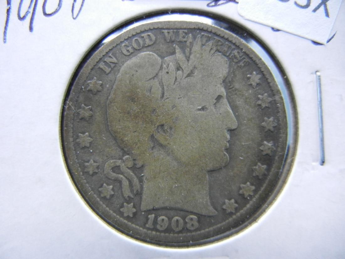 1908-D Barber Half Dollar