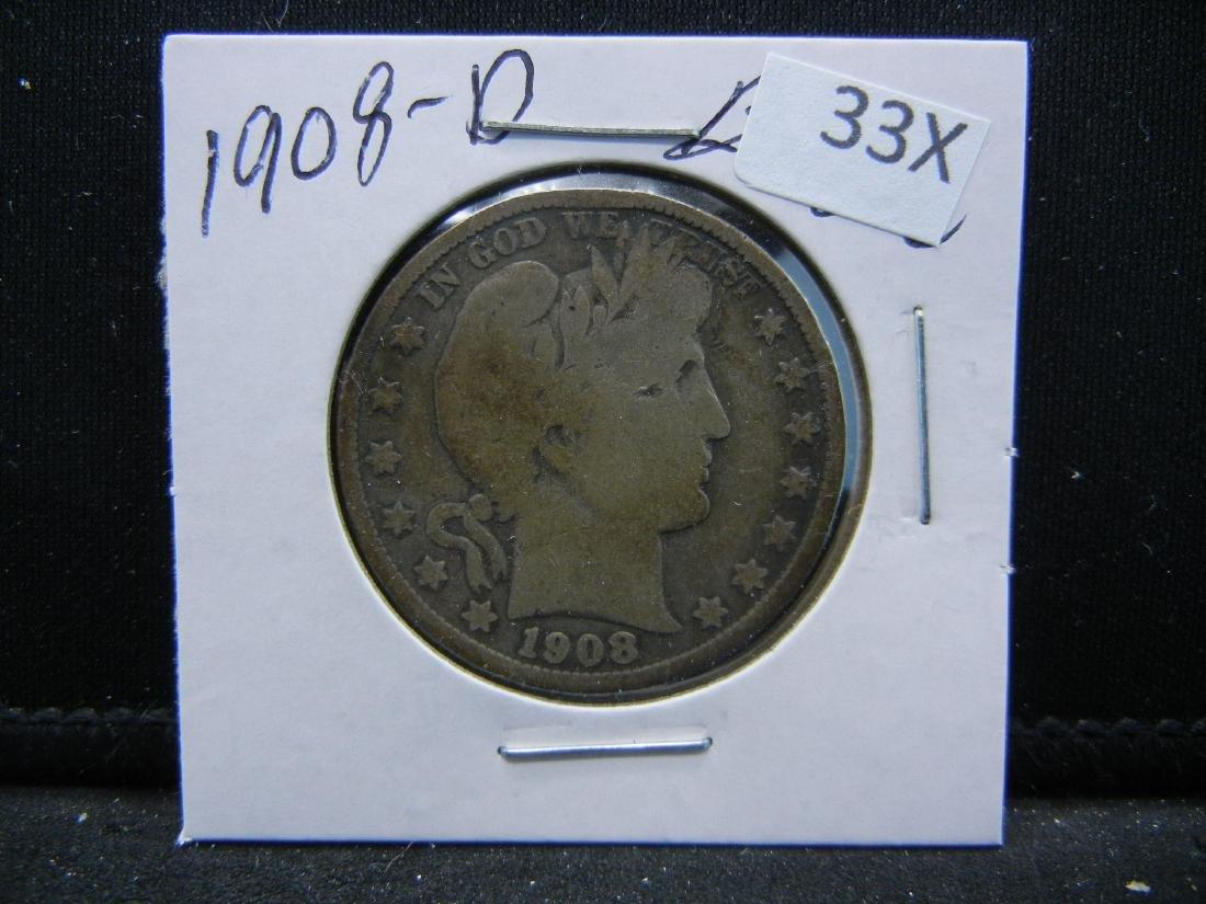 1908-D Barber Half Dollar - 3