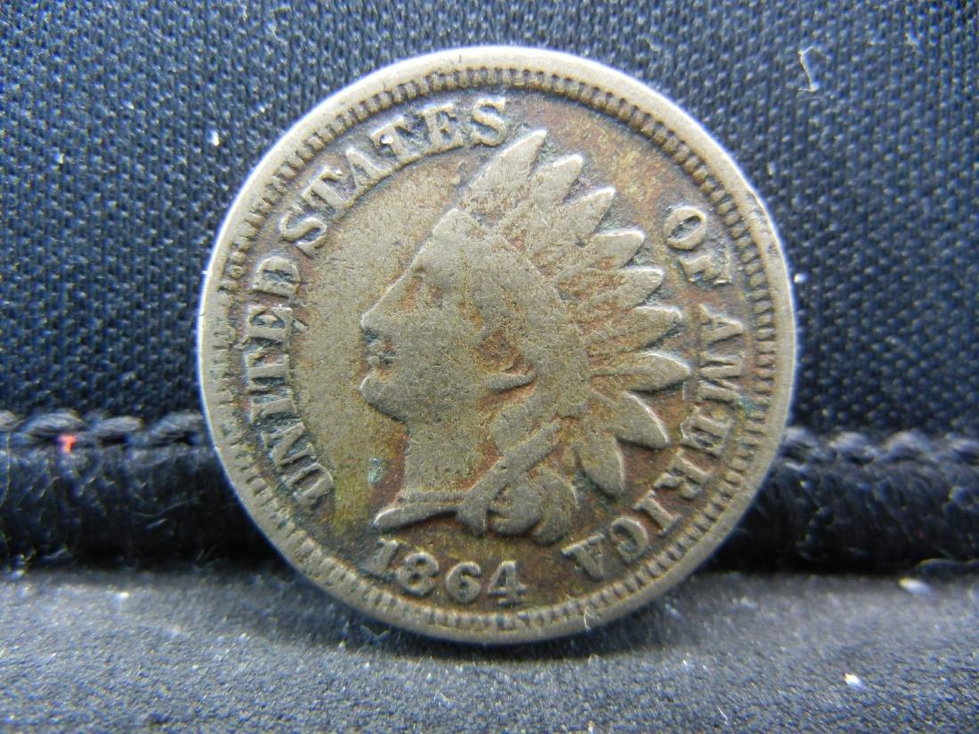 1864 Copper Nickel Indian Head Cent.  Civil War Year.