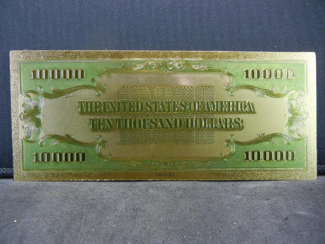1928 $10,000 Gold Certificate 24K Gold Foil Note Not - 2