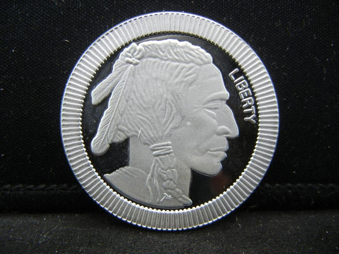 1 Ounce .999 Fine Silver Indian Head Round