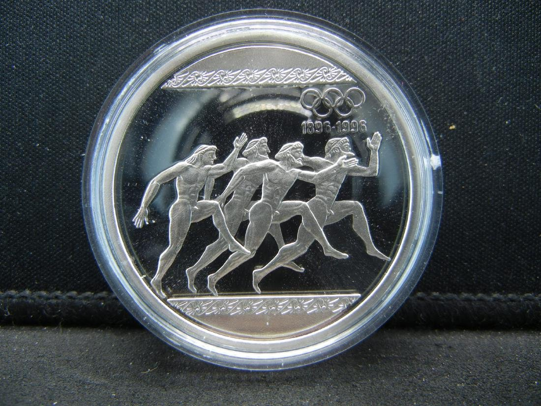 1996 Greece 1000 Drachma Proof Sterling Silver Coin - 2