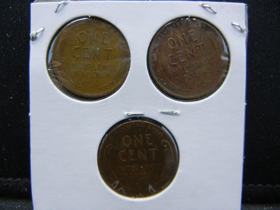 1925, 1926, 1927 Lincoln Wheat Cents - 2