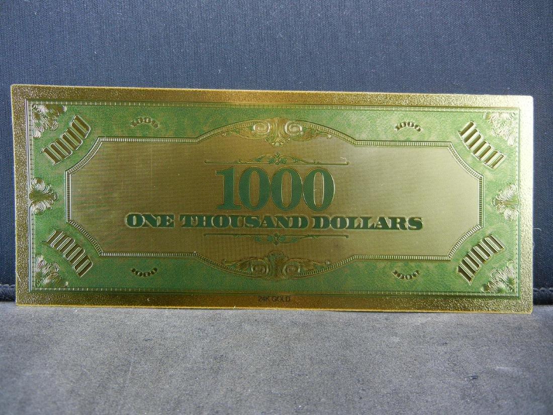 1928 $1,000 Gold Certificate 24K Gold Foil Note Not - 2