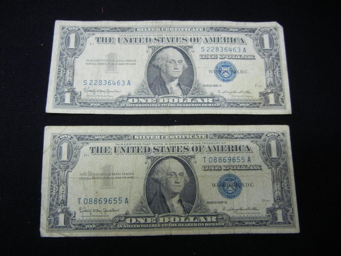 (2)1957-N $1 US Silver Certificates