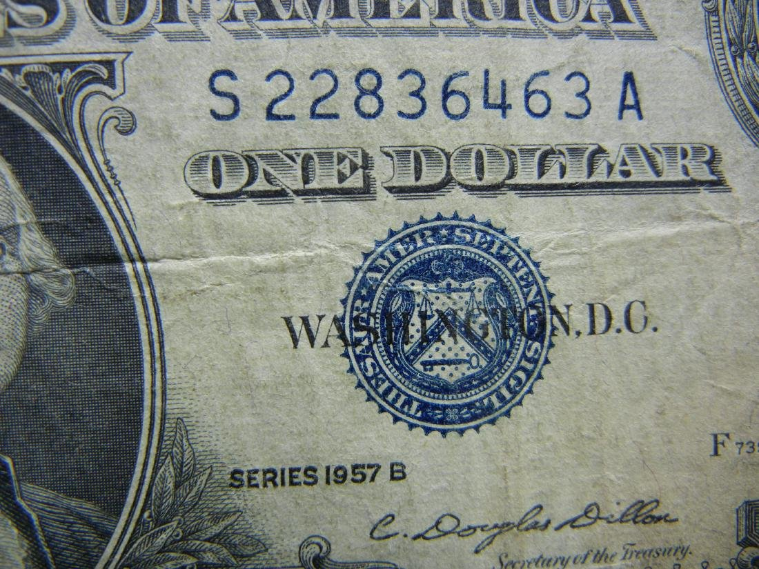 (2)1957-N $1 US Silver Certificates - 3