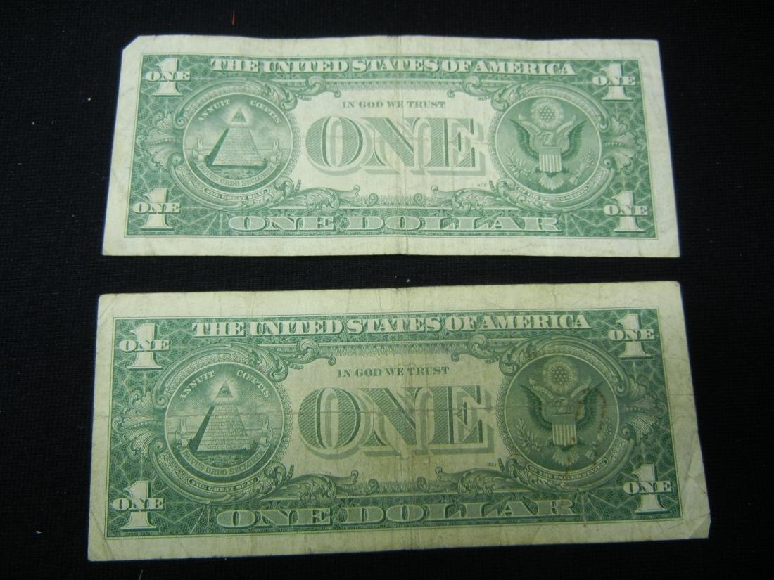 (2)1957-N $1 US Silver Certificates - 5