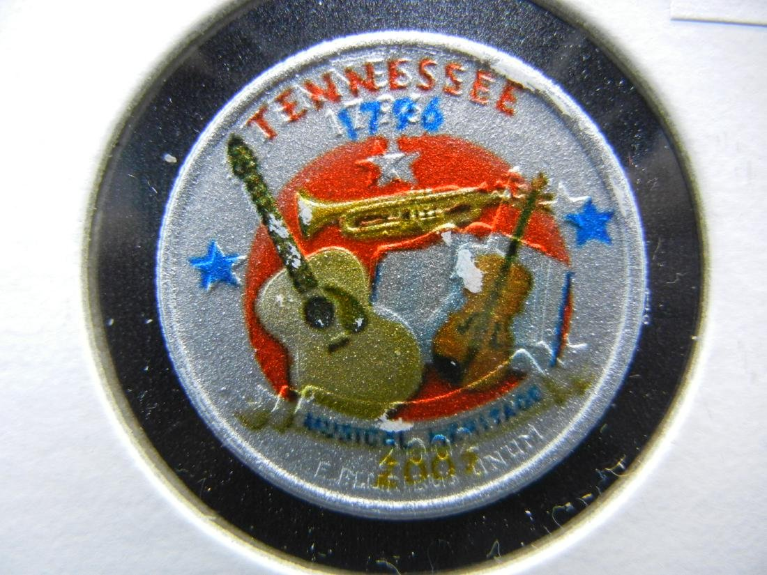 2002 Tennessee Colorized Washington State Quarter