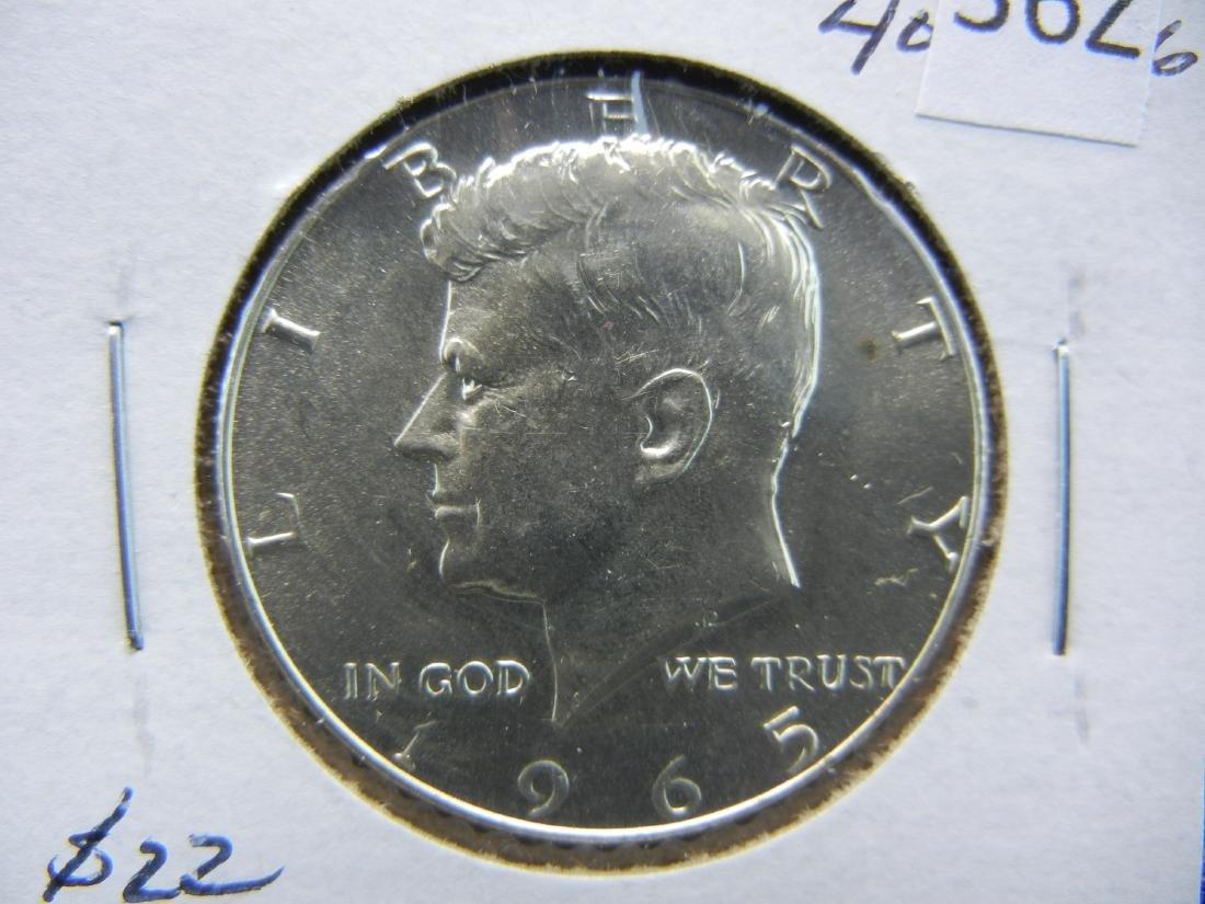 1965 40% Silver Kennedy Half Dollar
