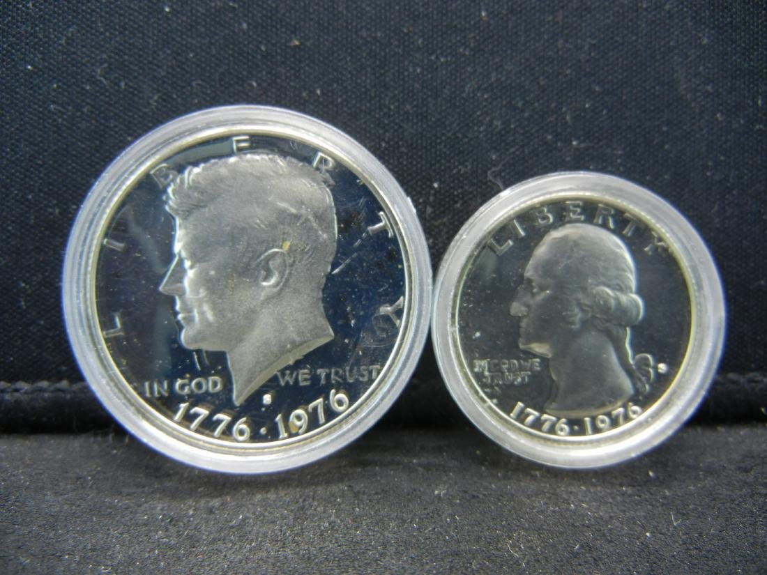 1976-S Bicentennial Proof 40% Silver Quarter and Half