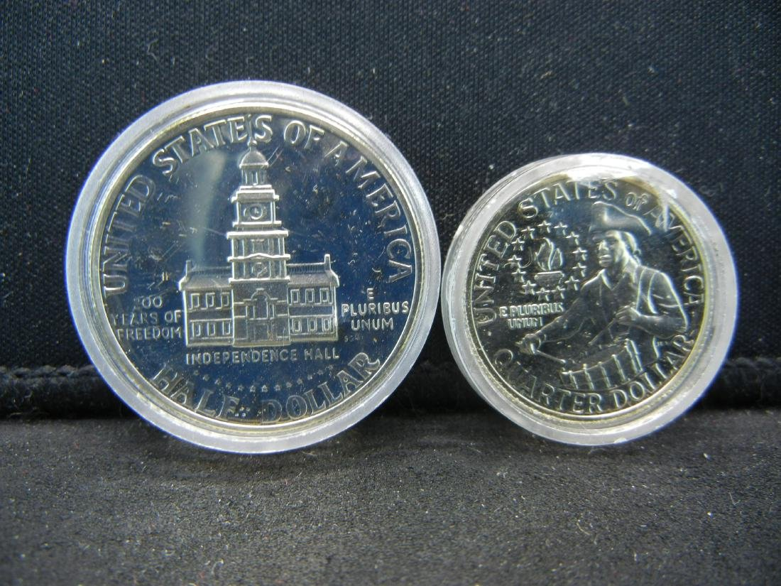 1976-S Bicentennial Proof 40% Silver Quarter and Half - 2
