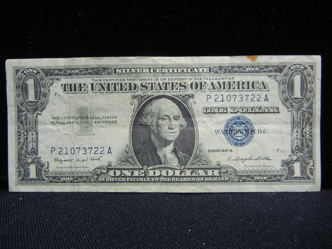 20 1957 One Dollar Silver Certificates - 5