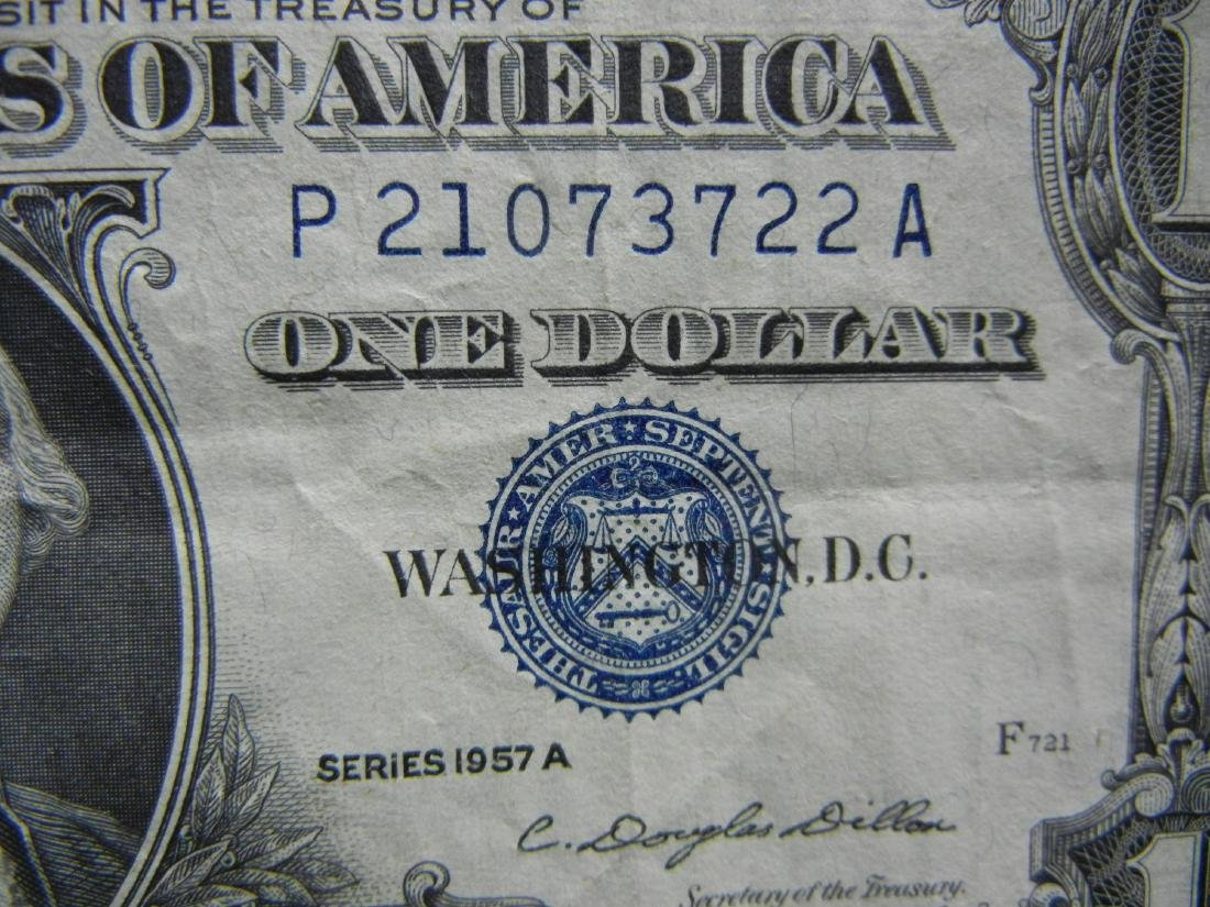 20 1957 One Dollar Silver Certificates - 6