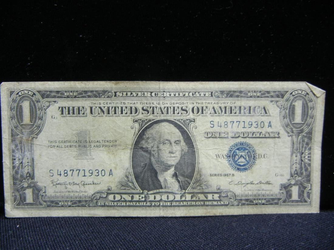 20 1957 One Dollar Silver Certificates - 8