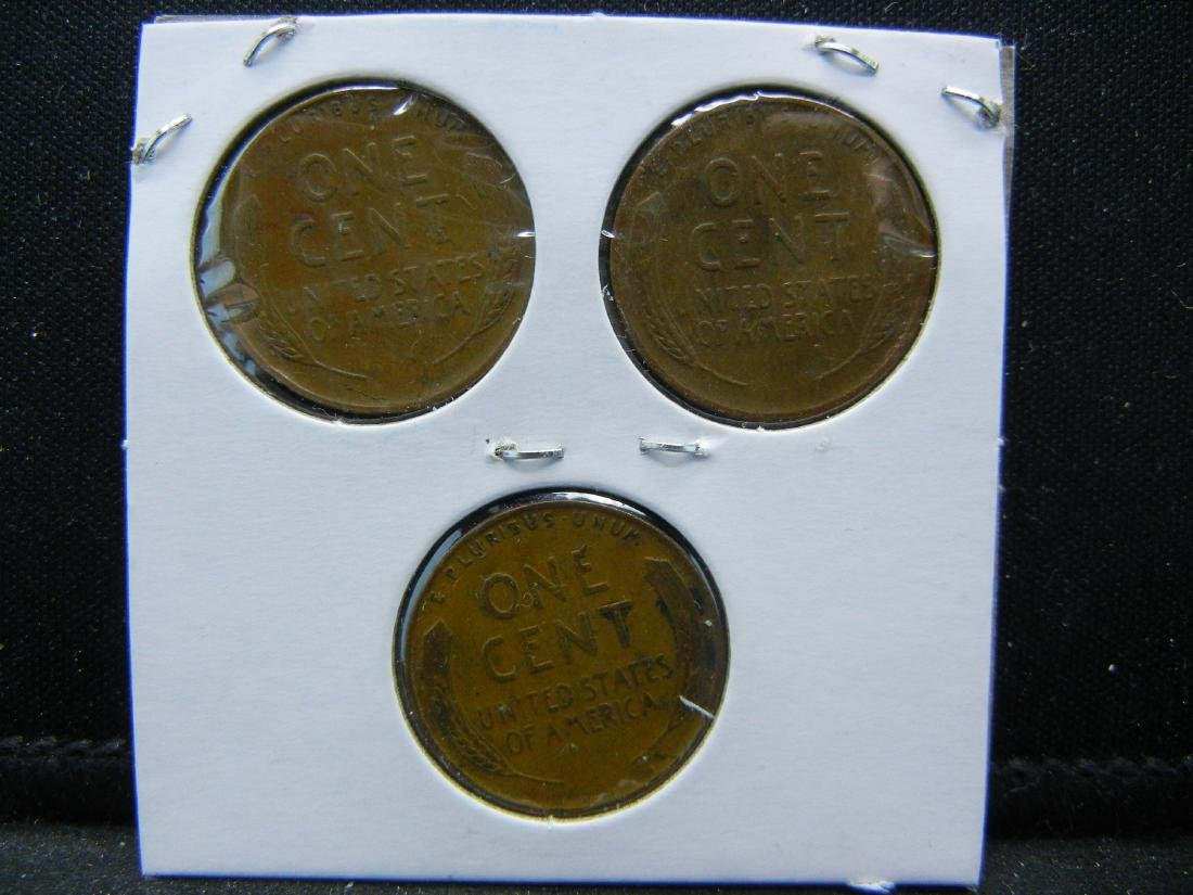1937, 1938, 1939 Lincoln Wheat Cents - 2