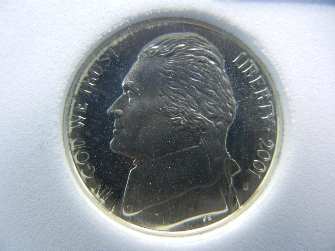 2001 S SGS PR70CAM Jefferson Nickel Perfect Coin - 2