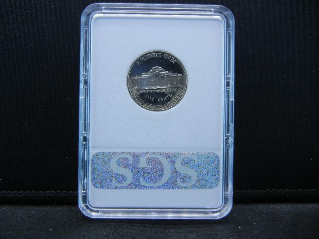 2001 S SGS PR70CAM Jefferson Nickel Perfect Coin - 4
