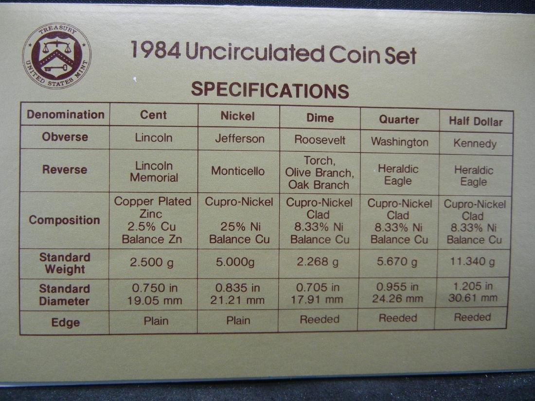 1984-P, D UNC Mint Set - 6