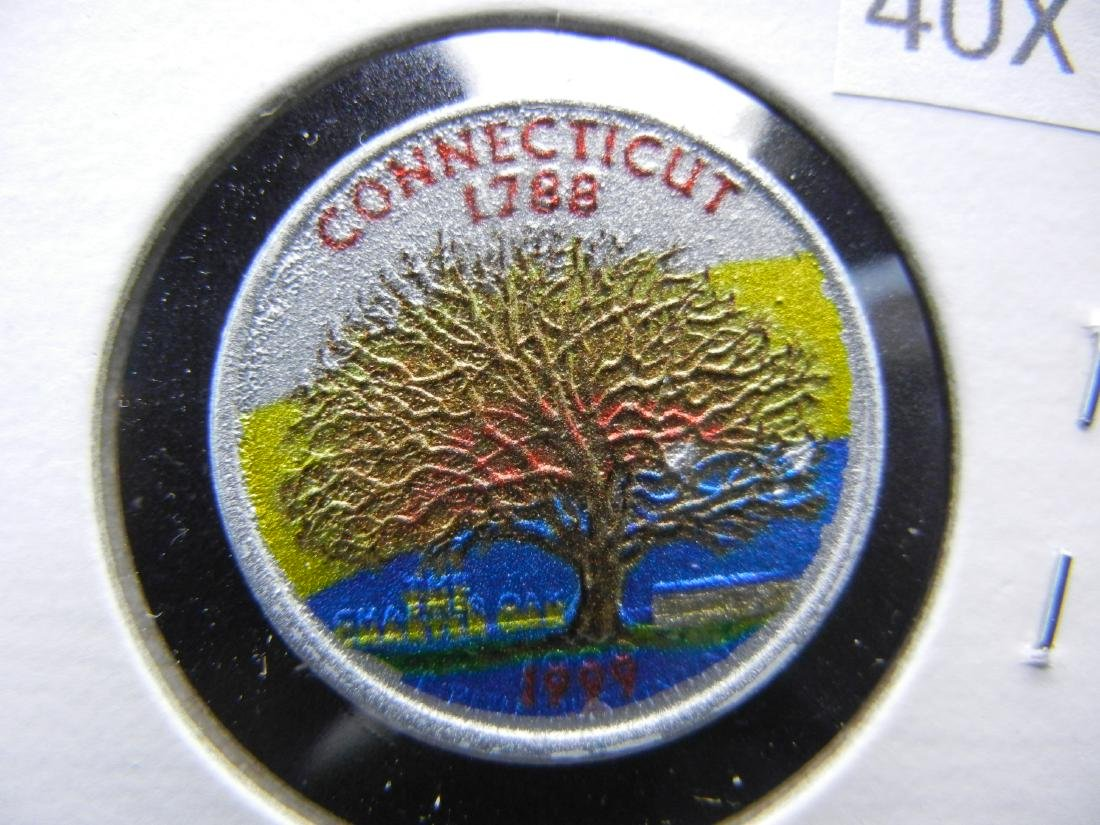 Connecticut Colorized Washington State Quarter