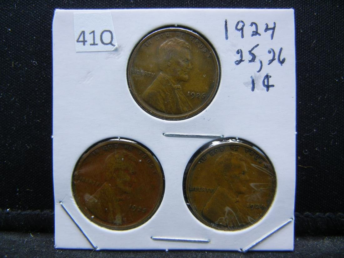 1924, 25, 26 Lincoln Wheat Cents