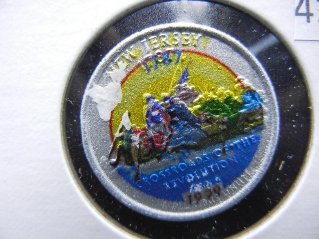 1999 New Jersey Colorized Washington State Quarter