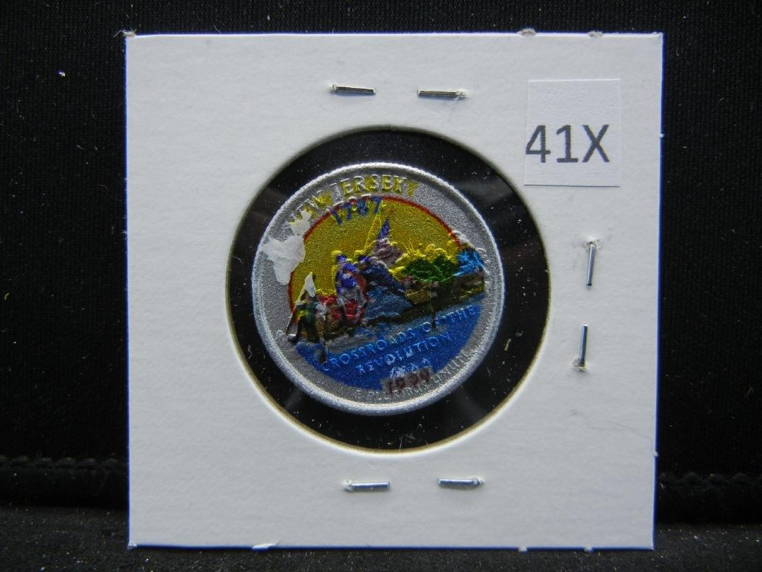 1999 New Jersey Colorized Washington State Quarter - 2