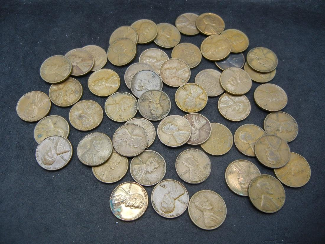 50 Mintmarked Wheat Cents all Dated in the Thirties.