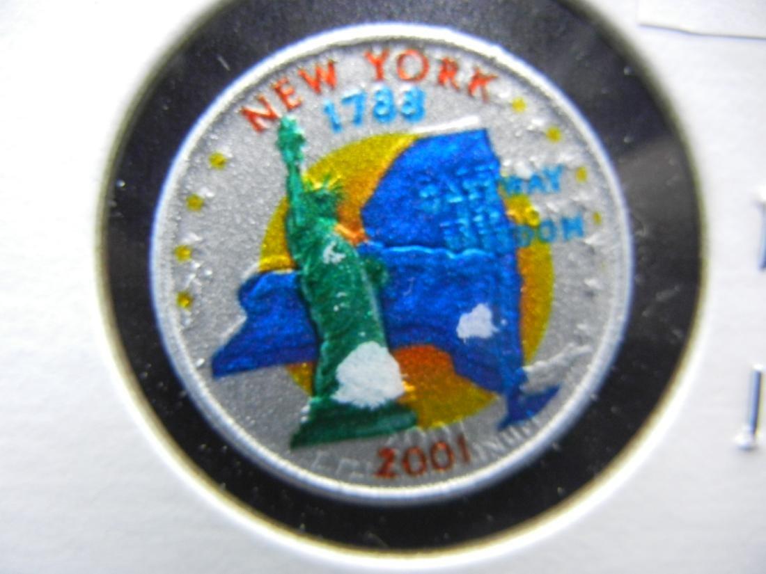 2001 New York Colorized Washington State Quarter