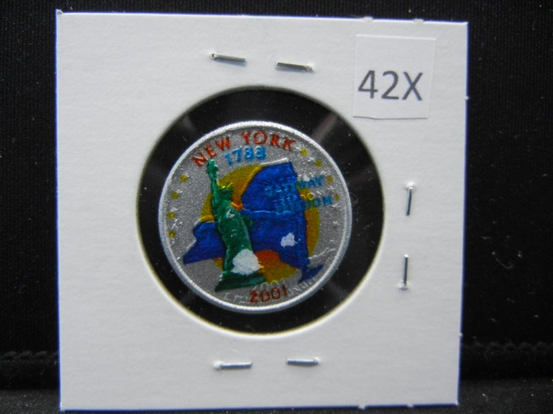 2001 New York Colorized Washington State Quarter - 3