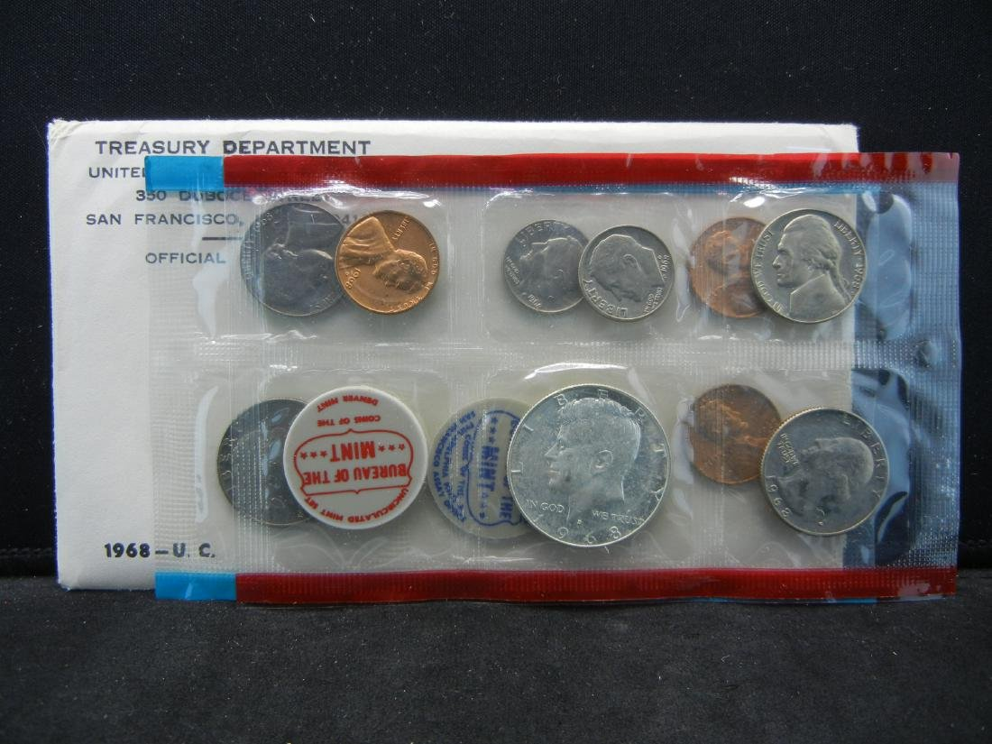 1968 United States Mint Sets With Original Packaging.