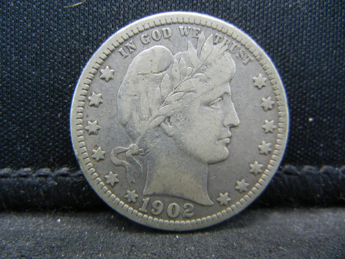 1902-O Barber Quarter, Readible Liberty, Fine or Better