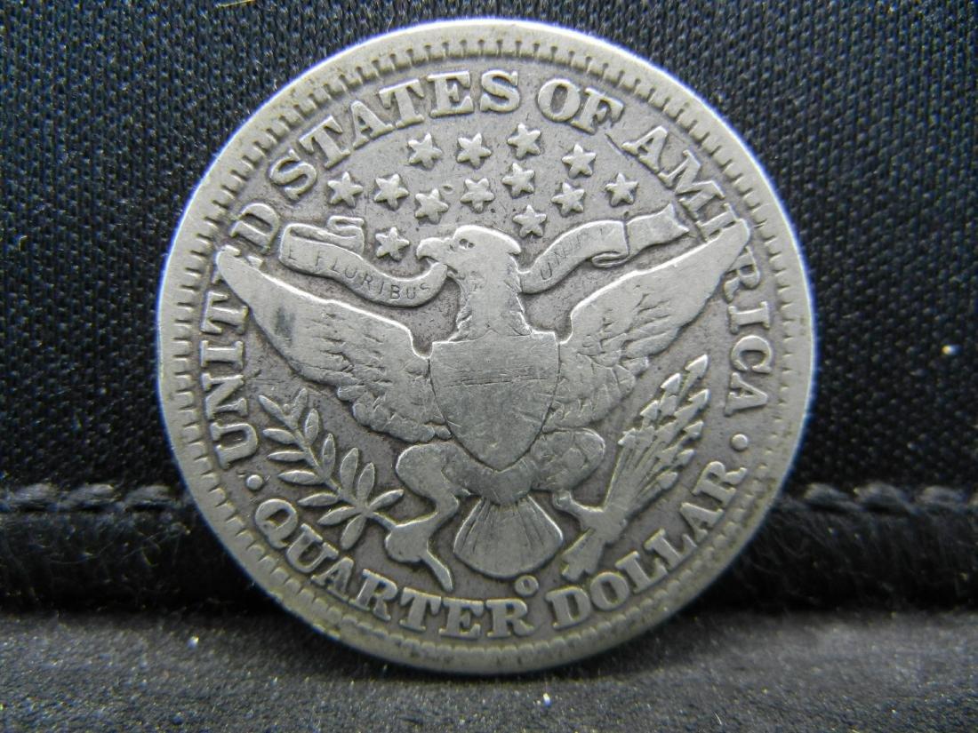 1902-O Barber Quarter, Readible Liberty, Fine or Better - 2