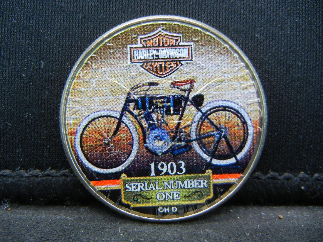 Harley Davidson Motorcycle Colorized 2019 Kennedy Half - 2