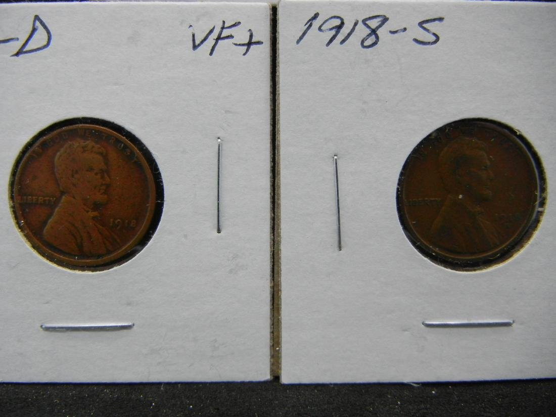 1918-P, D, S Lincoln Wheat Cents - 3