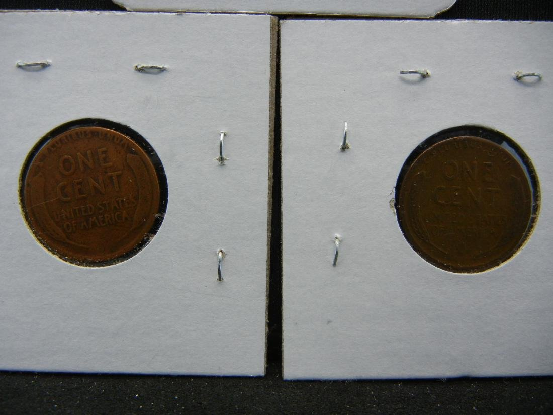 1918-P, D, S Lincoln Wheat Cents - 5