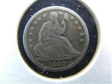 1840 Half Dime Very Fine